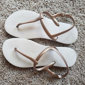 Havaianas Freedom Sandals Rose gold size 6